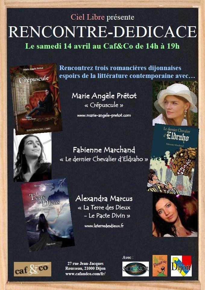 Rencontre-Dédicace avec les trois romancières dijonnaises espoirs de la littérature contemporaine