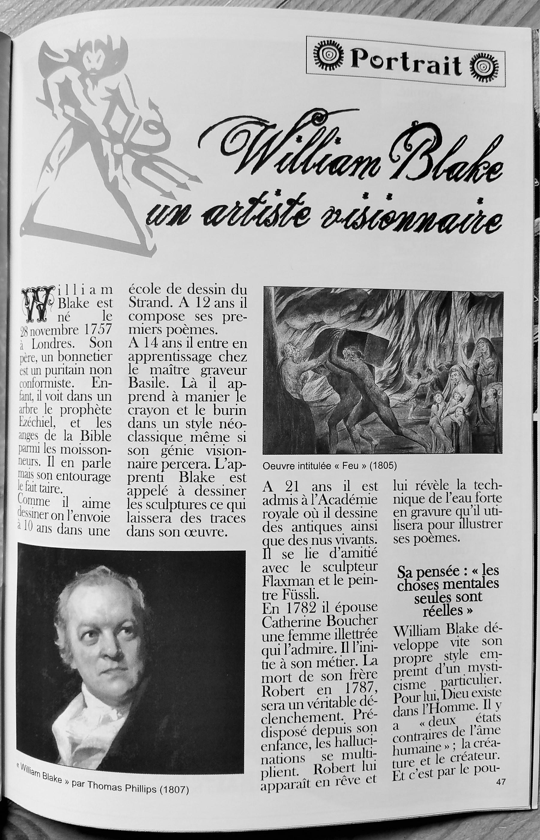 William Blake, un artiste visionnaire
