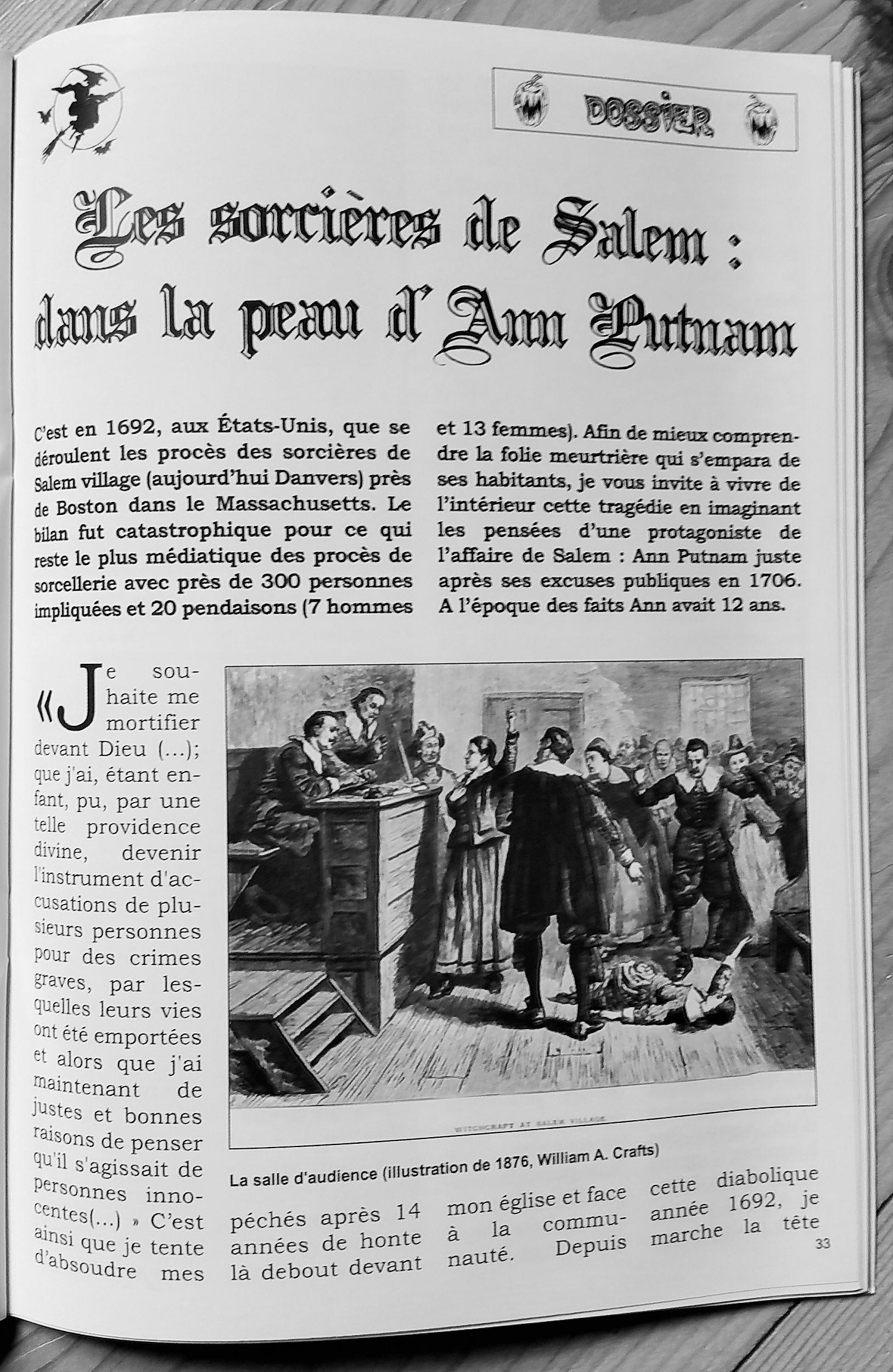Les sorcières de Salem : Dans la peau d'Ann Putnam